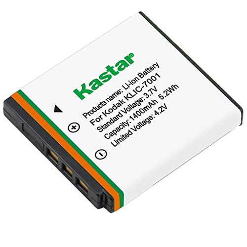 Kastar KLIC-7001 Replacement Lithium-Ion Battery for Kodak EasyShare M1073 IS, M1063, M893 IS, M863, M763, M853, M753, V705, V610, V570, V550 Digital - Replacement Klic 7001 Battery