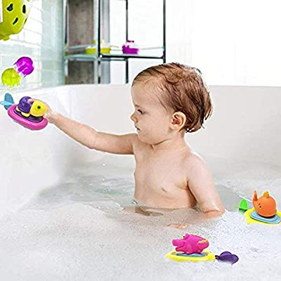 Baby Bathing Toy Cute Pull String Animal Surfer Bath Toy for Baby &Toddler Toys Shower and Swimming : Baby