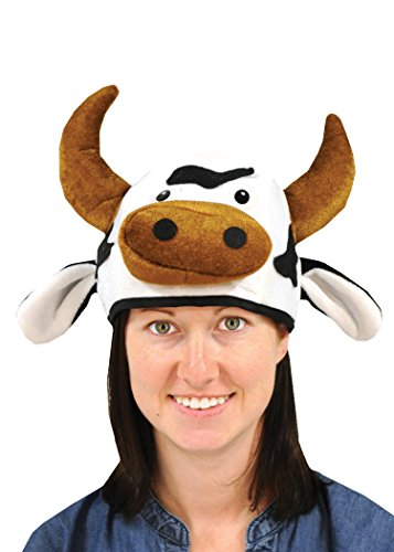 Farm Animal Costumes (Beistle 60791 Plush Cow Head Hat)
