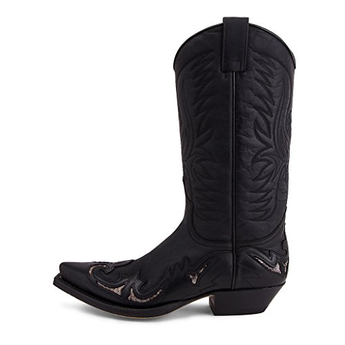 Sendra Boots 3242 Cuervo Pull Oil Negro-Transp. Piton