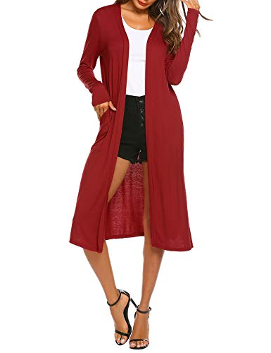 Beyove Open Front Knit Cardigans for Women Lightweight Cover-up Long Sleeve Cardigan Sweaters