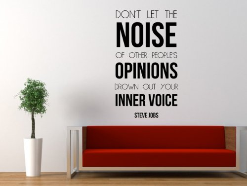 Steve Jobs Inspirational Quote Wall Decal