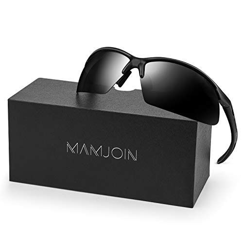 MAMJOIN Polarized Sports Sunglasses for Men Women Youth UV400 Protection Sunglasses for Cycling Driving Fishing Golf Baseball Running Hiking Outdoor Sports, Safety HD Glasses, TR90 Unbreakable Frame