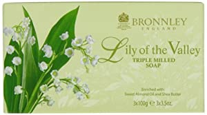 Bronnley England Lily Of The Valley Triple Milled Soaps for Women, 3.5 Ounce by Bronnley England