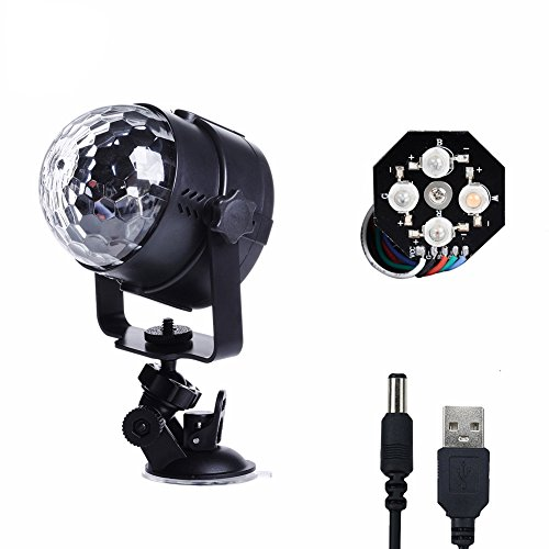 Disco Ball Lights Mini LED Stage Lighting with ...