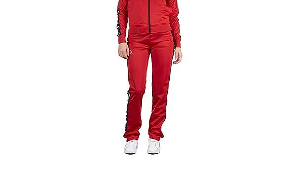 eb0b49544f Kappa Womens 222 Banda Wastoria Pants - Dark Red/Black - LG at ...