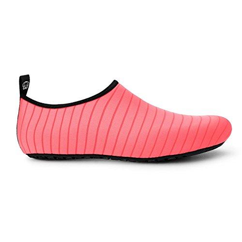 Neufashion Water Schoenen Barefoot Sneldrogend Aqua Yoga Sokken Instapper Ontwerp Outdoor Sportschoenen Voor Mannen Vrouwen Kinderen, Water Sportschoenen, Duikschoenen Roze
