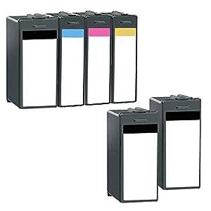 6 Inkfirst® Ink Cartridges 14N1053, 14N1054, 14N1055, 14N1056 Compatible Remanufactured for Lexmark 100XL Black, Cyan, Magenta, Yellow (1 Set + 2 Black) INTERPRET S405 INTUITION S505 PINNACLE PRO901 PLATINUM PRO905 PRESTIGE PRO805 PREVAIL PRO705