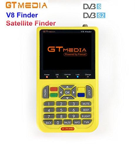 Freesat V8 Finder Digital Satellite Finder DVB-S/DVB-S2 1080P HD MPEG-2/MPEG4 3.5 inch LCD Satellite TV Receiver by Freesat