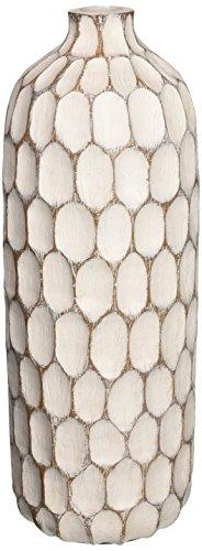 Torre & Tagus 901112 Carved Divot Resin Vase, Tall ()