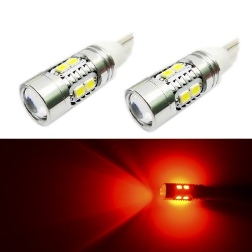 JDM ASTAR Super Bright AX-2835 Chipsets 161 168 194 912 921 T10/T15 LED Bulbs for Tail lights, Brilliant Red