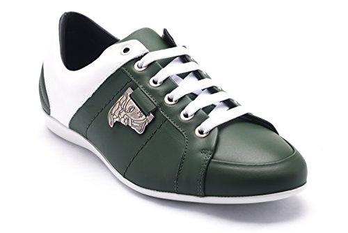 Versace Collections Men's Medusa Logo Low Top Sneakers Shoes White - Men Versace Top