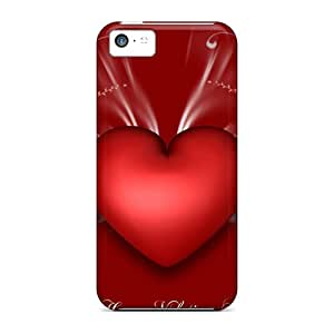 Tpu Shockproof/dirt-proof Happy Valentine Day Covers Cases For Iphone(5c)