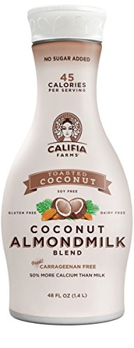 Califia Farms Coconut Almondmilk Blend, Dairy Free, Plant Milk, Vegan, Non-GMO, Toasted Coconut, 48 Oz (Pack of 2)