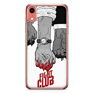 Loud Universe Fan Art Fight Club fight Scene iPhone XR Case with Transparent Edges