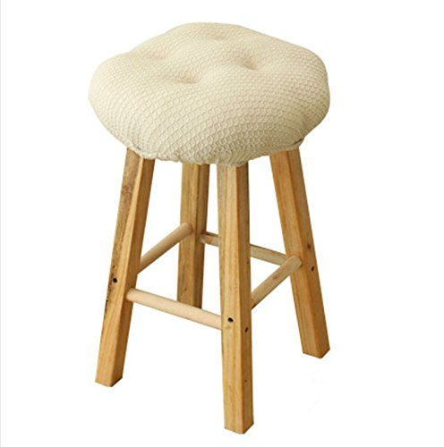 12'' Bar Stool Cover Cushion for 11.5''-13'' stools, Thick Padding to Protect or Make Your Stool New, Off-white Color