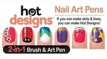 Buy Shopos 2 In 1 Hot Designs Nail Art Polish Pens With 6 Glitz