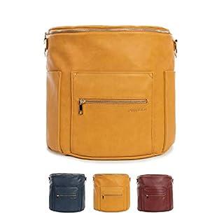 Fawn Design Premium Vegan Leather Diaper Bag and Backpack (Honey 2.0)