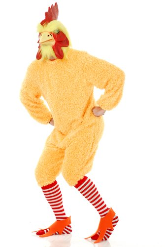 Rocking Rooster Chicken Adult Halloween Costume Size XL (Adult Rooster Costume)