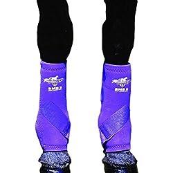 Professionals Choice Equine Smbii Leg Boot, Pair (Medium, Purple)