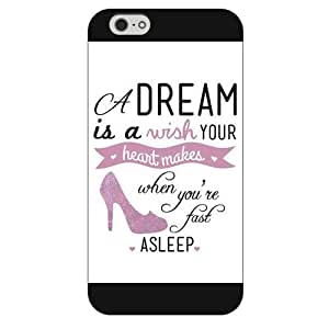 """Customized Black Frosted Disney Princess Cinderella iPhone 4 4s Case, Only fit iPhone 6+ """""""