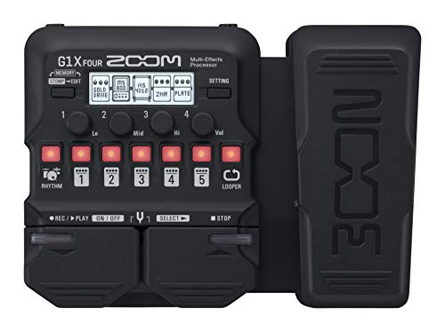 Zoom Electric Guitar Multi Effect (G1X FOUR) (Best Drum Pedal For Guitar)