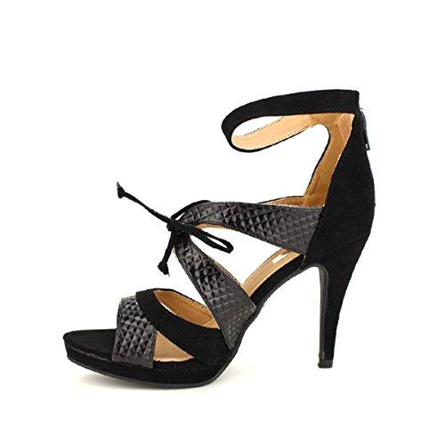 Femme Belluci Cendriyon Escarpin Fashion Noir Chaussures XYPAnCwq