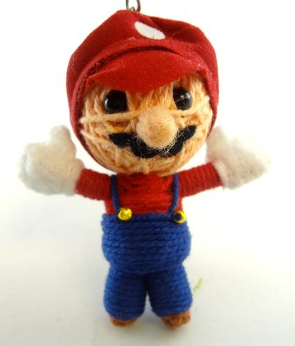 Mario Voodoo String Doll Key Chain Handmade Super Brothers