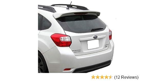 Accent Spoilers-Spoiler for a Subaru Impreza//Crosstrek 5-Door Roof Factory Style Spoiler-Ice Silver Metallic Paint Code G1U
