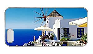 Hipster top iphone 5 cover greece oia santorini 1 PC Transparent for Apple iPhone 5/5S