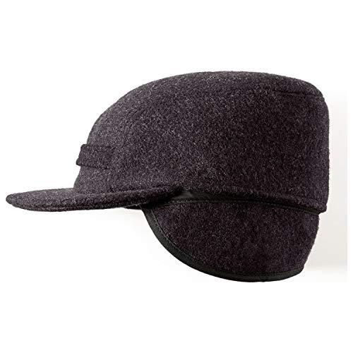 - Filson Mackinaw Wool Cap (Charcoal, Medium) 60040