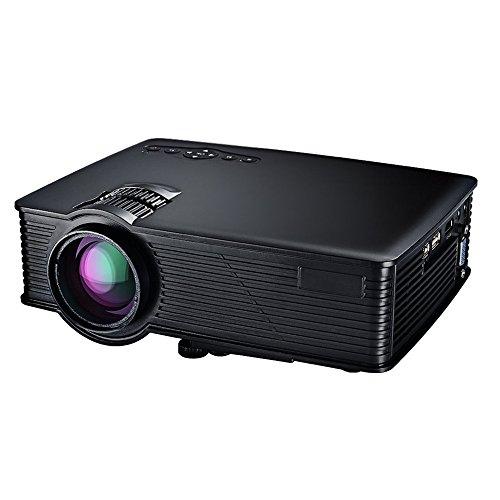LCD Beamer Projektor, Mpow 1200 Lumen LCD Projector LED Mini Beamer Projektor Home Cinema Tragbare Multimedia Heimkino mit USB SD HDMI VGA für Video Game Movie Hinterhof-Kino