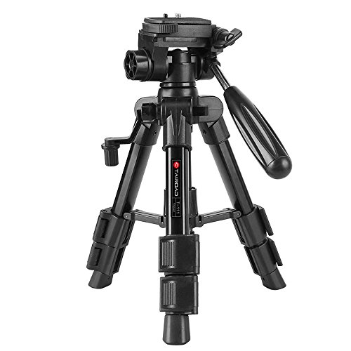 Tairoad T-111 Tabletop Tripod 12.5inch Lightweight Aluminum Mini Travel Tripod with 360° Rotating Pan Head for Tablet Camera Canon EOS Sony Nikon Samsung Fuji