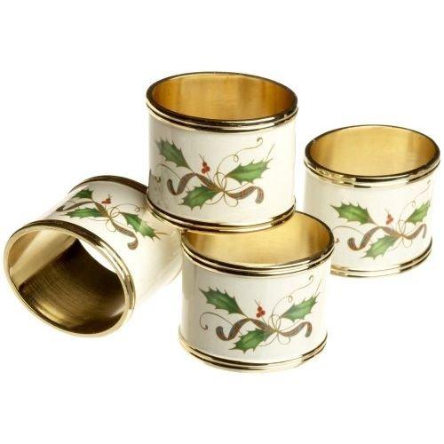Lenox Christmas Nouveau Napkin Rings