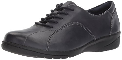 CLARKS Women's Cheyn Ava Oxford, Navy Leather, 6.5 M US