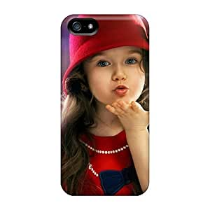 Excellent Iphone 5/5s Case Tpu Cover Back Skin Protector Cute Little Girl Flying Kiss