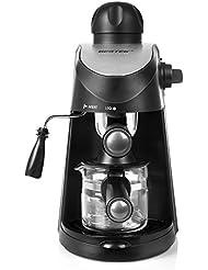 BESTEK 3.5 Bar Steam Espresso Coffee Machine Cappuccino Espresso Latte Home Coffeemaker with Stainle
