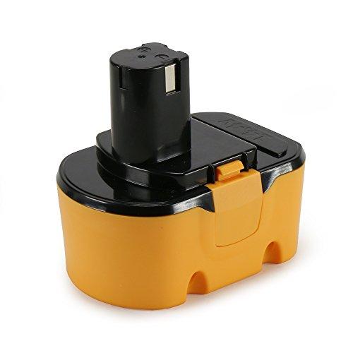 14.4V Replacement Battery For Ryobi -Cordless Tool Battery for Ryobi 1314702 130224010 130224011 (2.0Ah, Ni-Cd)