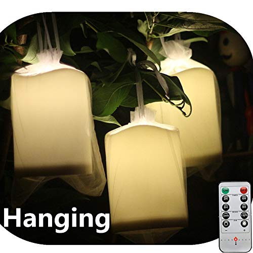 Outdoor Lighted Plastic Candles in US - 8