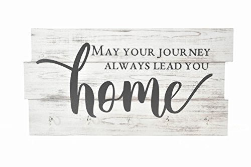 (May Your Journey Always Lead You Home Key Holder, Key Hanger, Wall Key Rack, Wall Key Holder, Key Holders, Rustic Wood Key Holder 8
