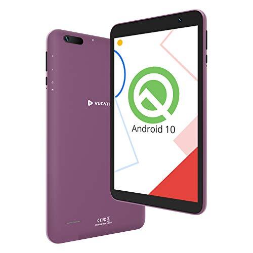 Tablet 8-Inch Android 10.0 Wi-Fi - VUCATIMES N8 Tablets 32GB ROM Quad-Core Dual Camera Processor IPS HD Display Bluetooth 4.2, Purple
