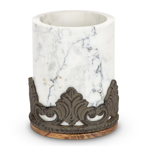Antiquity Marble Wood Utensil Holder