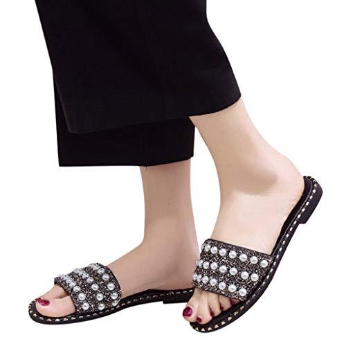 Flip Antidérapants Cales Ningsanjin De Toe Plage D'été Plateform Chaussures Femmes Noir Pantoufles Bohème Flops Clip ggq8vwHf
