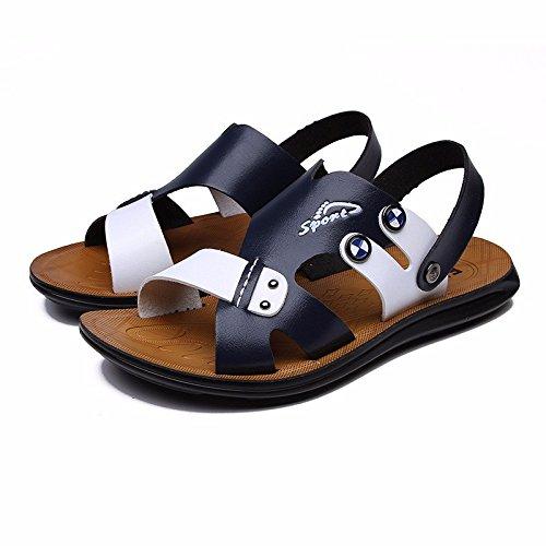 Il nuovo sandali Uomini scarpa estate Uomini sandali indossabile Spiaggia scarpa Uomini traspirante Tempo libero scarpa ,blu1,US=10,UK=9.5,EU=44,CN=46