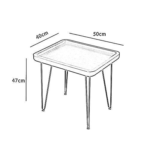 Folding table NAN plats soffbord Nordic Modern Home sidobord av trä med Border Desktop fyra fötter metallram halkskyddad fallskydd grå