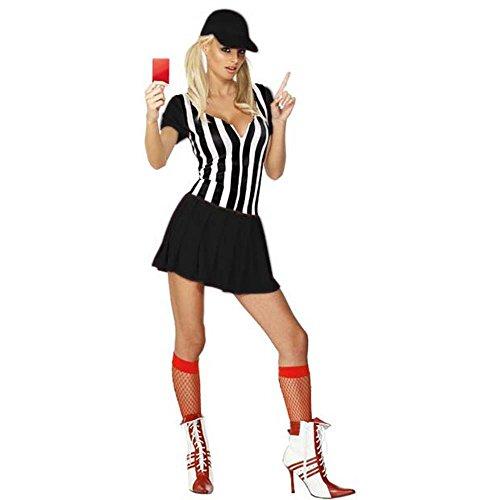 [Adult Sexy Referee Costume (Size: Medium 10-12)] (Referee Shirts Costume)