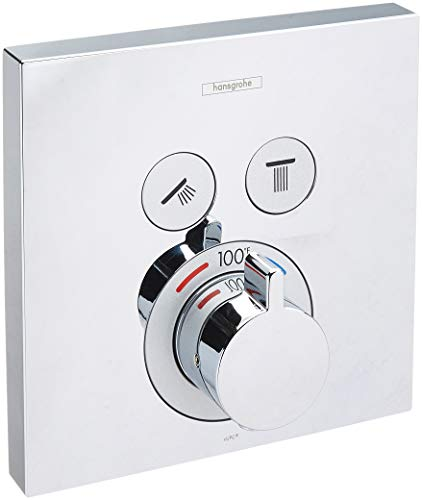 Hansgrohe 15763001 Thermostatic Trim 2 Function Finish, Small, Chrome