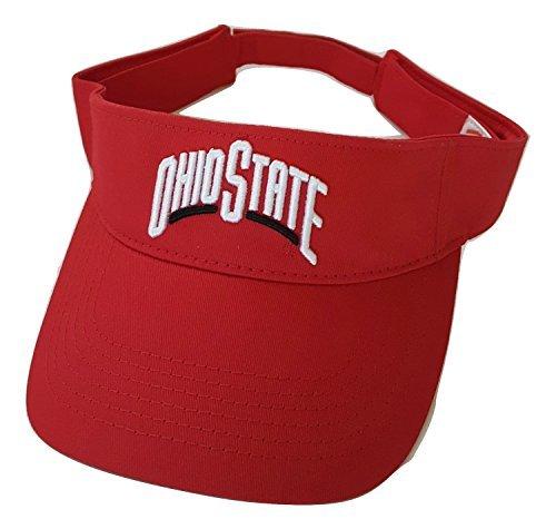 - National Cap Ohio State Buckeyes Adult Team Logo Visor, Red