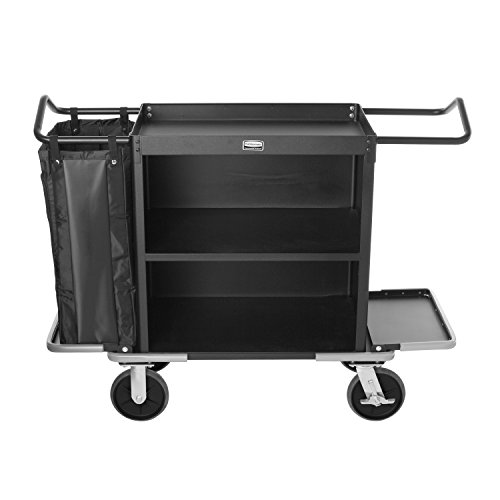 (Rubbermaid Commercial Executive Series Housekeeping Cart, Black)