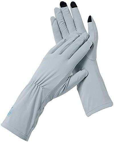 BAJIMI UVカット手袋 手触りが良い ファッションUPF50 +日焼け止め手袋絶縁型UV滑り止め手袋 夏 ハンド ケア レディース/メンズ (Color : Navy, Size : L)